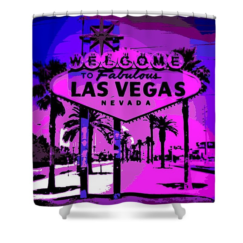 Las Vegas Shower Curtain featuring the photograph Welcome To Vegas No.2 by George Pedro
