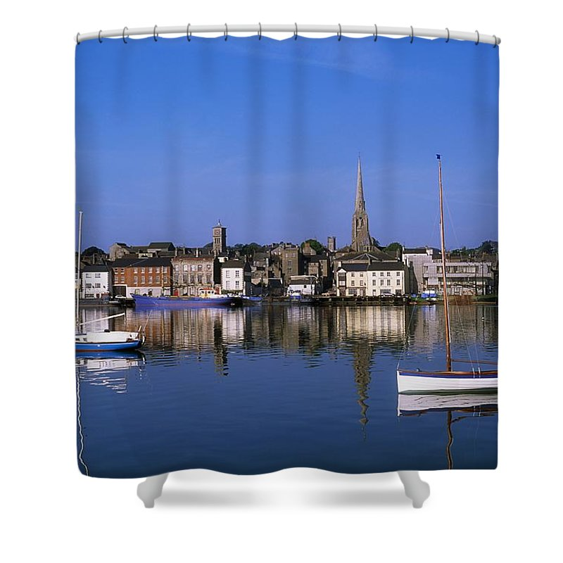 Blue Sky Shower Curtain featuring the photograph Wexford, Co Wexford, Ireland by The Irish Image Collection