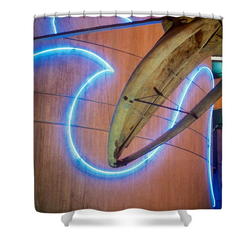 Baltimore Shower Curtain featuring the photograph Whale Into Blue Wave by Mark Dodd