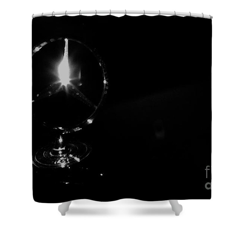 Aged Shower Curtain featuring the photograph Wheeled Elegance by Alan Look