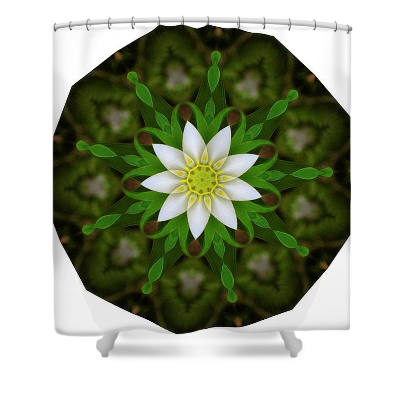 White Shower Curtain featuring the photograph White Flower by Linda Hutchins