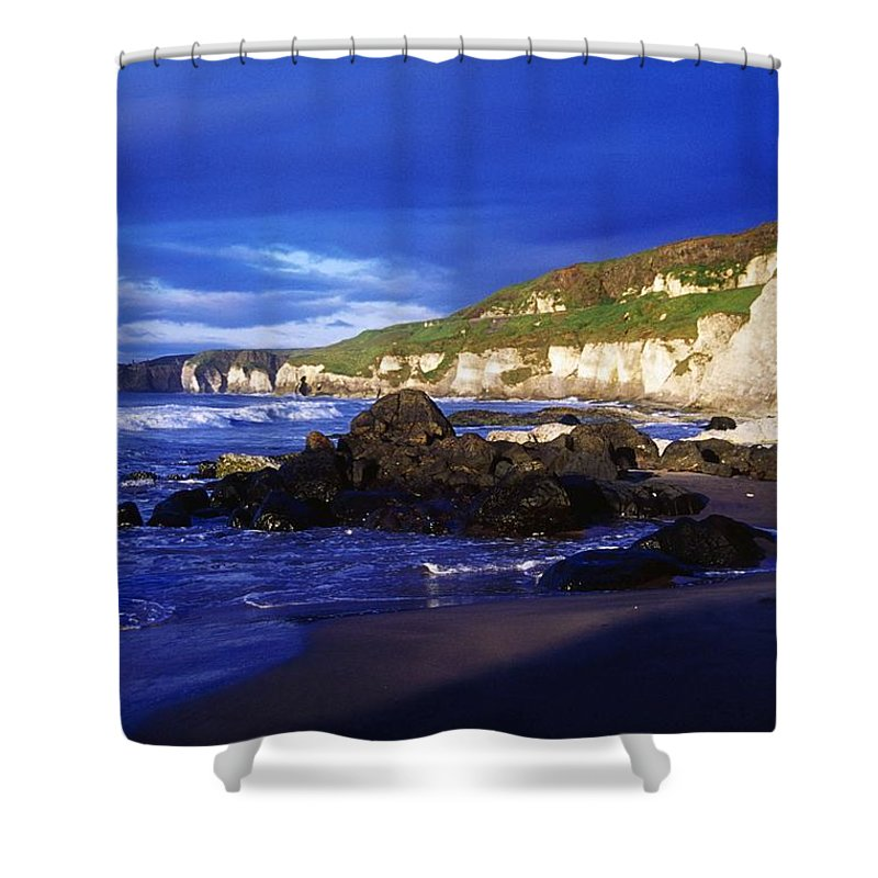 Attraction Shower Curtain featuring the photograph White Rocks Strand, County Antrim by Gareth McCormack