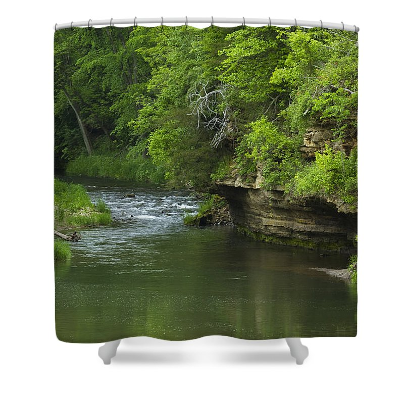 Whitewater Shower Curtain featuring the photograph Whitewater River Spring 5 B by John Brueske