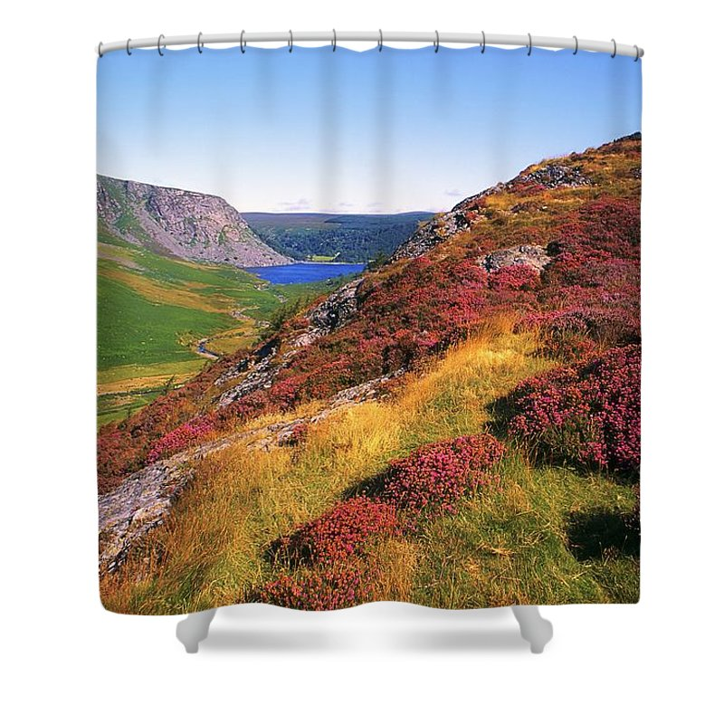 Clear Sky Shower Curtain featuring the photograph Wicklow Way, Co Wicklow, Ireland Long by The Irish Image Collection