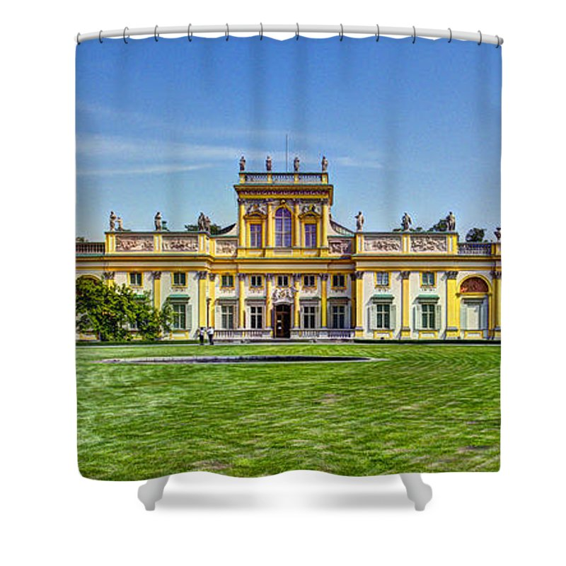 Wilanow Palace Shower Curtain featuring the photograph Wilanow Palace - Warsaw Poland by Jon Berghoff