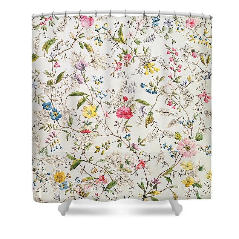 Wall Paper Paintings Shower Curtains