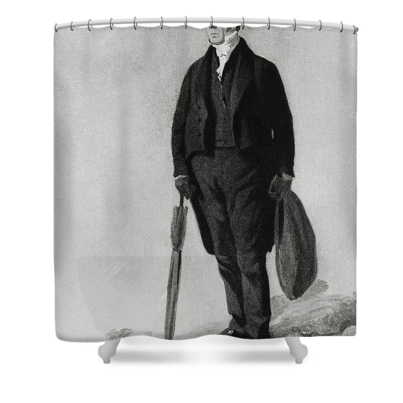 Science Shower Curtain featuring the photograph William Buckland, English Paleontologist by Photo Researchers