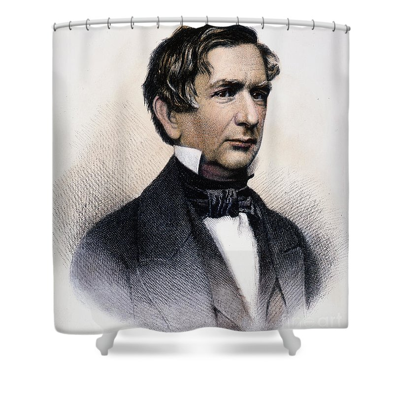19th Century Shower Curtain featuring the photograph William Henry Seward by Granger