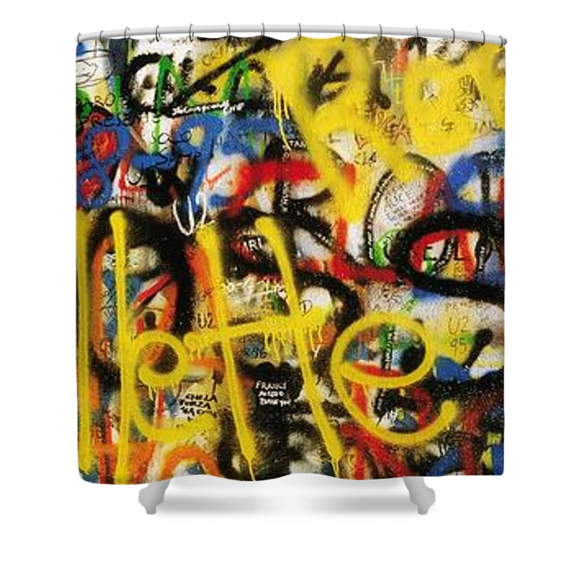 Close Up Shower Curtain featuring the photograph Windmill Lane, Dublin, Co Dublin by The Irish Image Collection