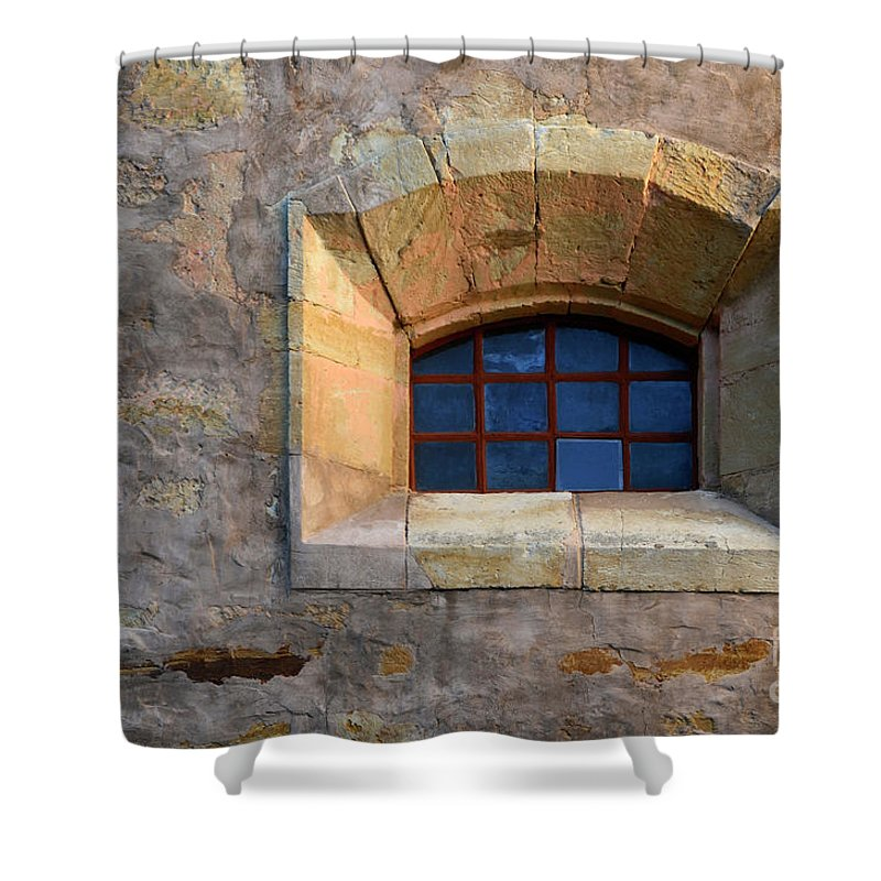 Coast Shower Curtain featuring the photograph Window Detail At Carmel by Bob Christopher