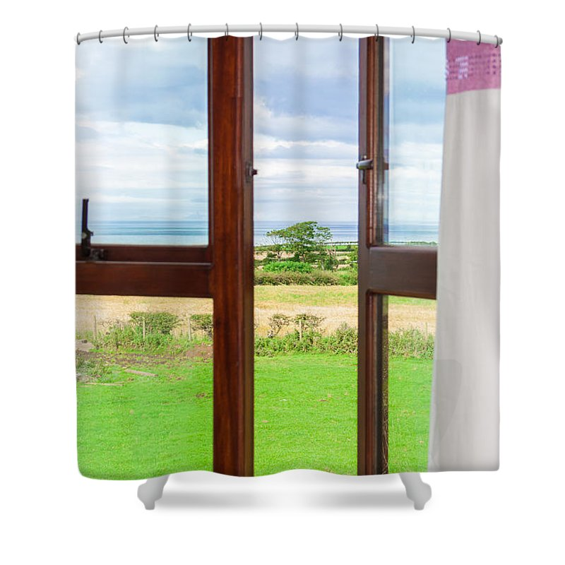 Grass Shower Curtain featuring the photograph Window View by Semmick Photo