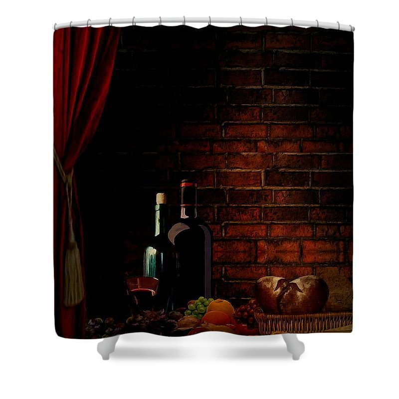 Wine Shower Curtain featuring the photograph Wine Lifestyle by Lourry Legarde