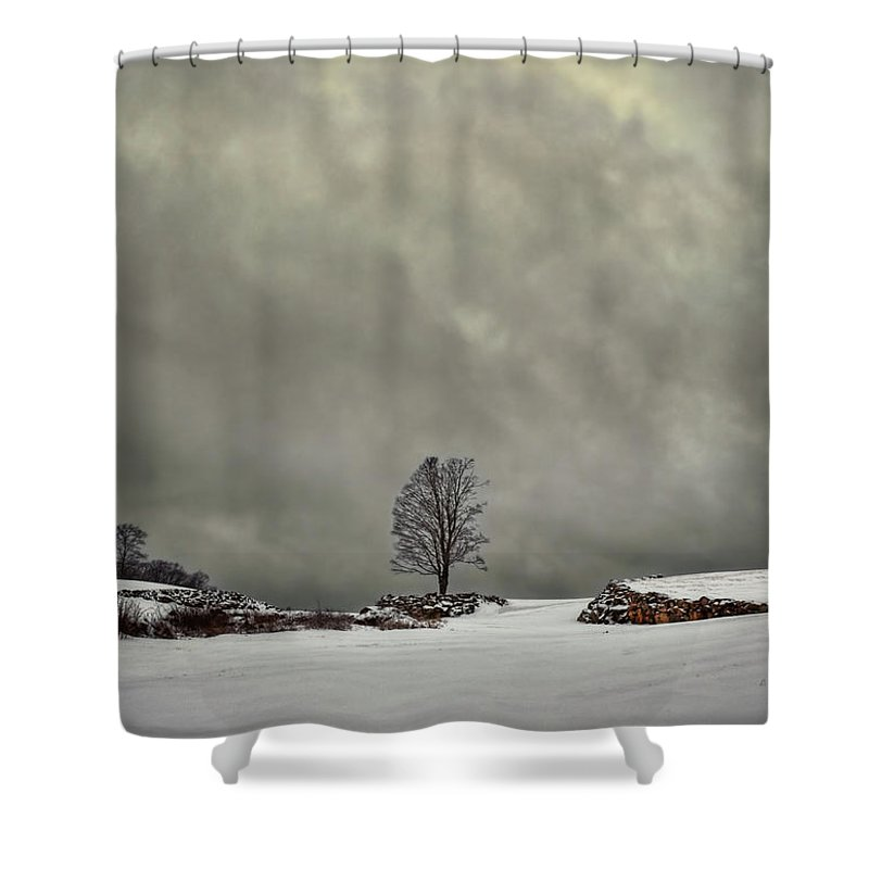 Cloud Shower Curtain featuring the photograph Winter Blues by Evelina Kremsdorf