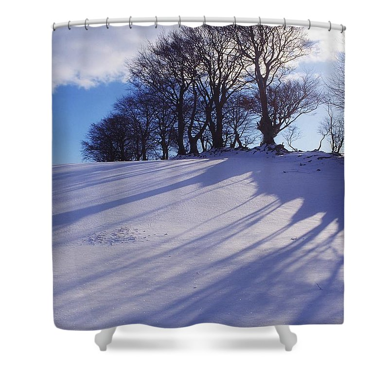 Beauty In Nature Shower Curtain featuring the photograph Winter Landscape by The Irish Image Collection