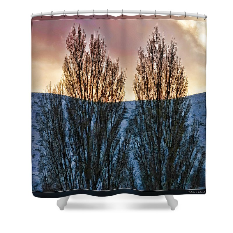 Fine Art Photographers Shower Curtain featuring the photograph Winter Morning by Blake Richards