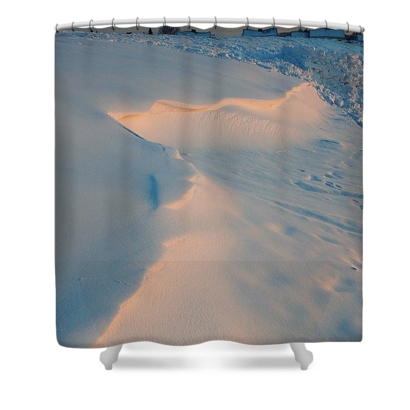 Photo Shower Curtain featuring the photograph Winter Sunset by Jutta Maria Pusl