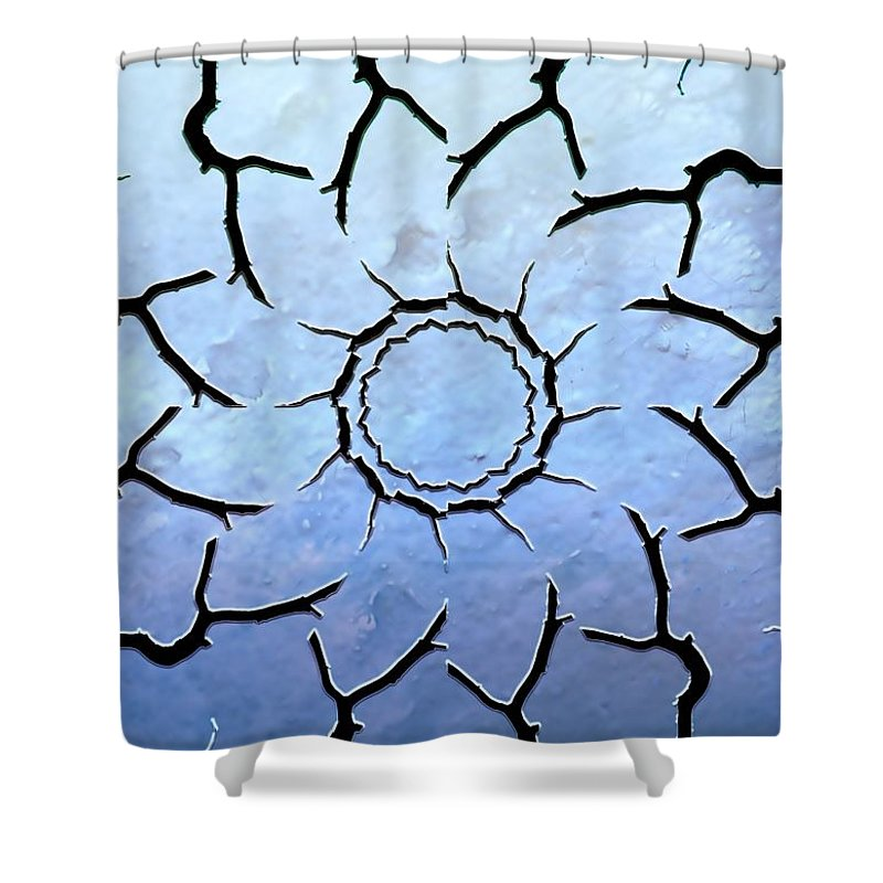 Abstract Shower Curtain featuring the photograph Winter's Flower by Ellen Heaverlo