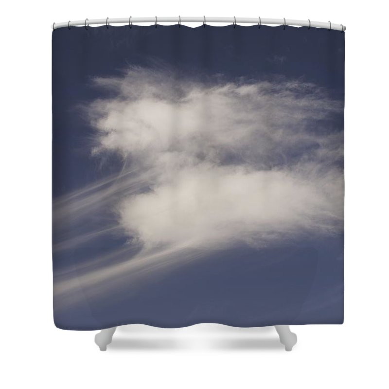 Clouds Shower Curtain featuring the photograph Wisped Away by One Rude Dawg Orcutt