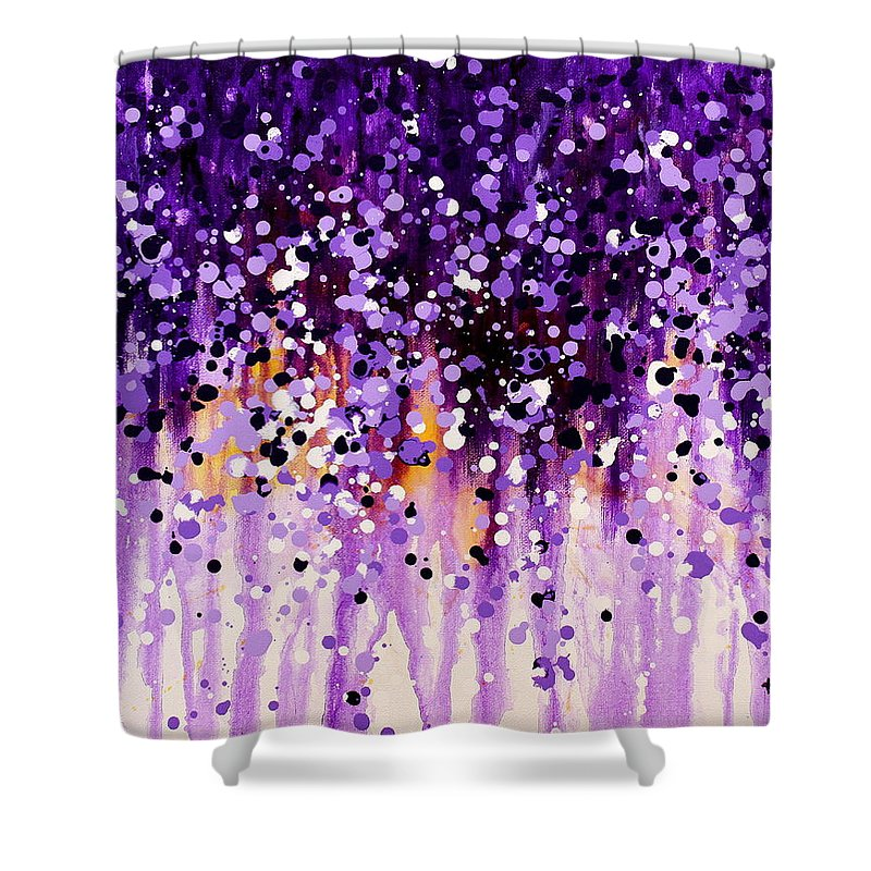Floral Shower Curtain featuring the painting Wisteria by Kume Bryant