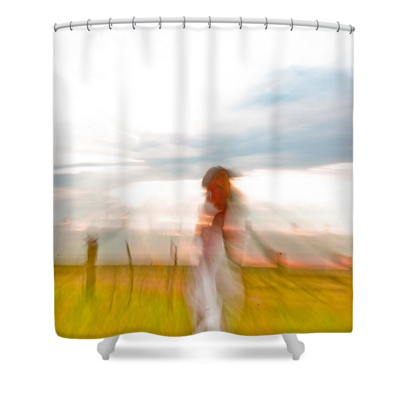 Abstract Shower Curtain featuring the photograph Woman Wave by Scott Sawyer