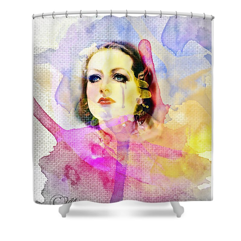 Woman's Soul Part 3 Shower Curtain featuring the digital art Woman's Soul Part 3 by Mo T