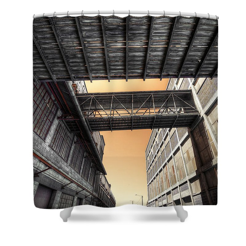Woolstores Shower Curtain featuring the photograph Woolstores by Wayne Sherriff