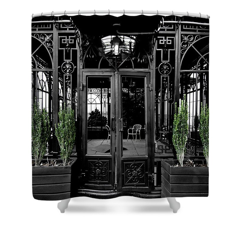 Art Shower Curtain featuring the photograph Wrought With Winter by Greg Fortier