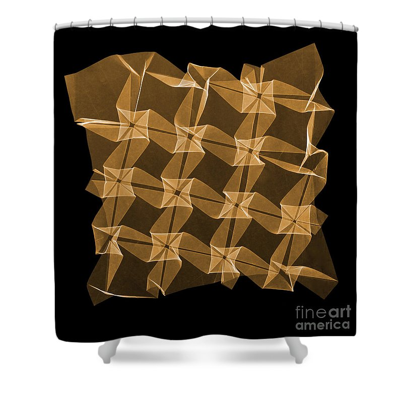 Origami Shower Curtain featuring the photograph X-ray Of Mathematical Origami by Ted Kinsman
