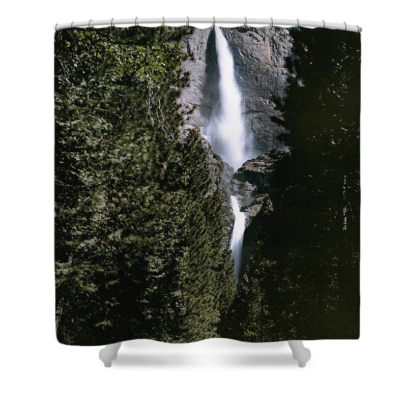 yosemite Falls Shower Curtain featuring the photograph Yosemite Falls, Yosemite National Park by Charles Martin