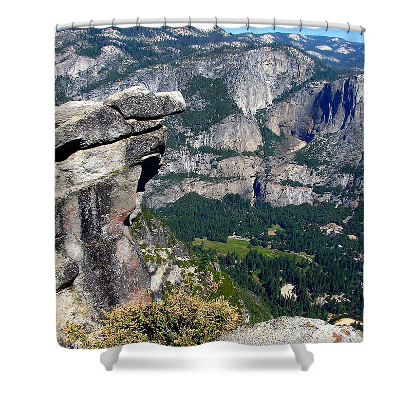 Yosemite Shower Curtain featuring the photograph Yosemite Valley From Glacier Point by Carla Parris