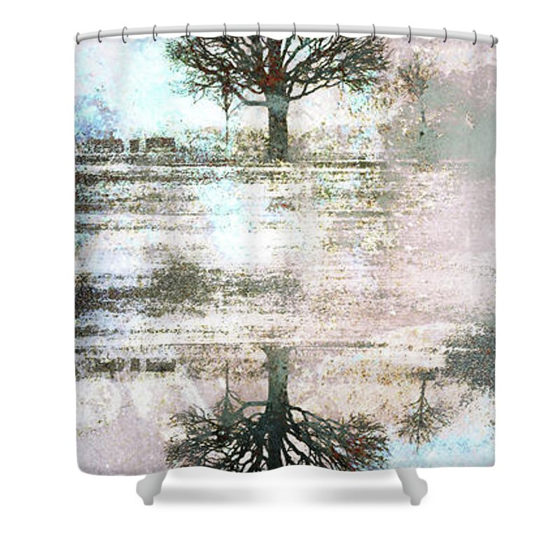Texture Shower Curtain featuring the digital art You Are Me And I Am You by Tara Turner