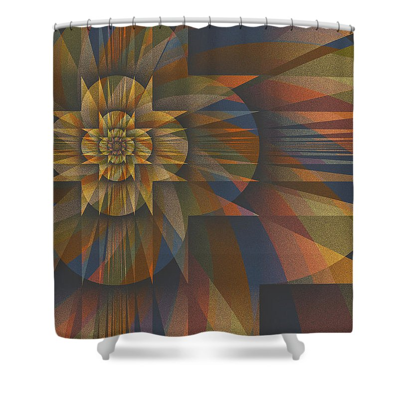 Fractal Shower Curtain featuring the digital art Z Divided By Z Minus 1 by Mark Greenberg
