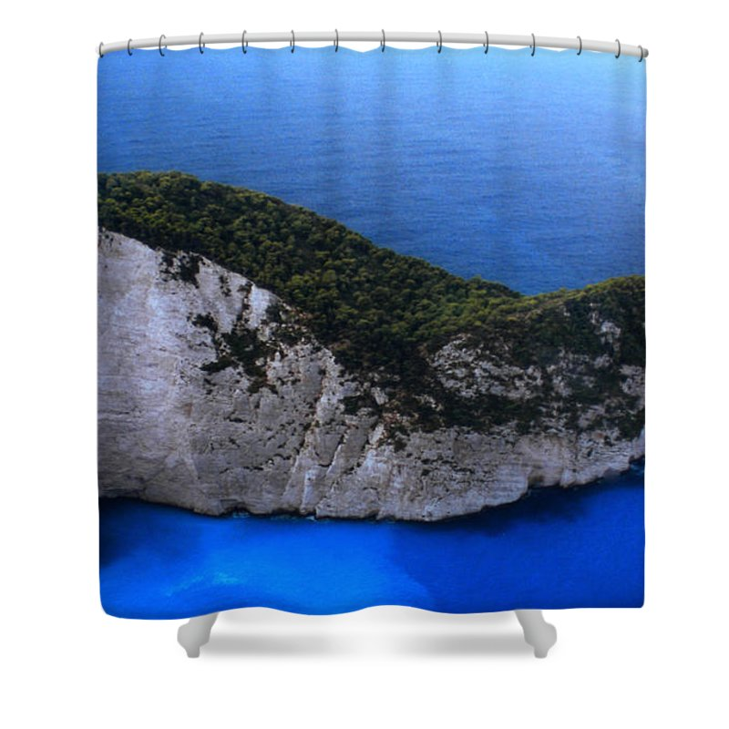 Colette Shower Curtain featuring the photograph Zakynthos Crocodile Island Greece by Colette V Hera Guggenheim