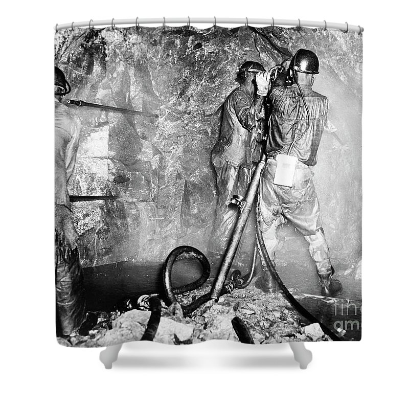 1955 Shower Curtain featuring the photograph Zambia Copper Mine by Granger