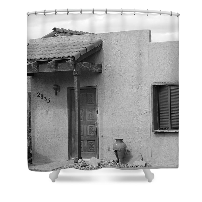 Architecture Shower Curtain featuring the photograph Adobe House by Rob Hans