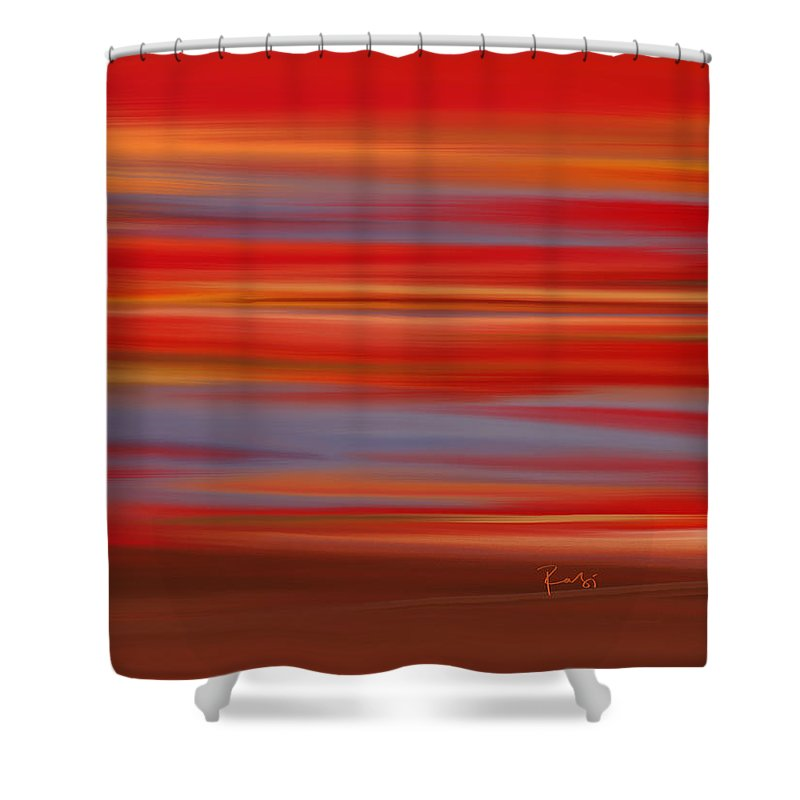 Abstract Shower Curtain featuring the digital art Evening In Ottawa Valley by Rabi Khan