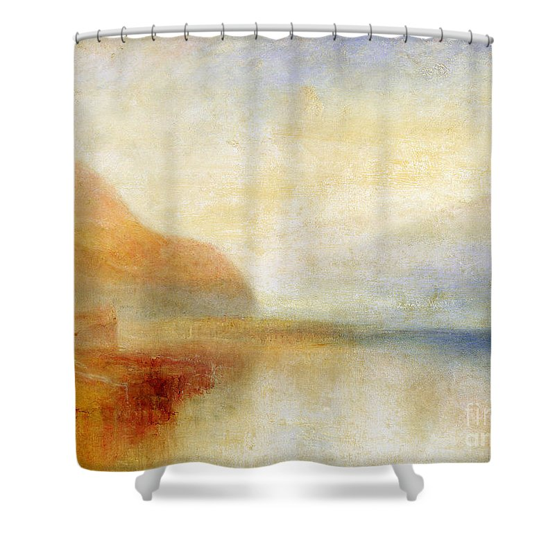 Inverary Shower Curtain featuring the painting Inverary Pier - Loch Fyne - Morning by Joseph Mallord William Turner