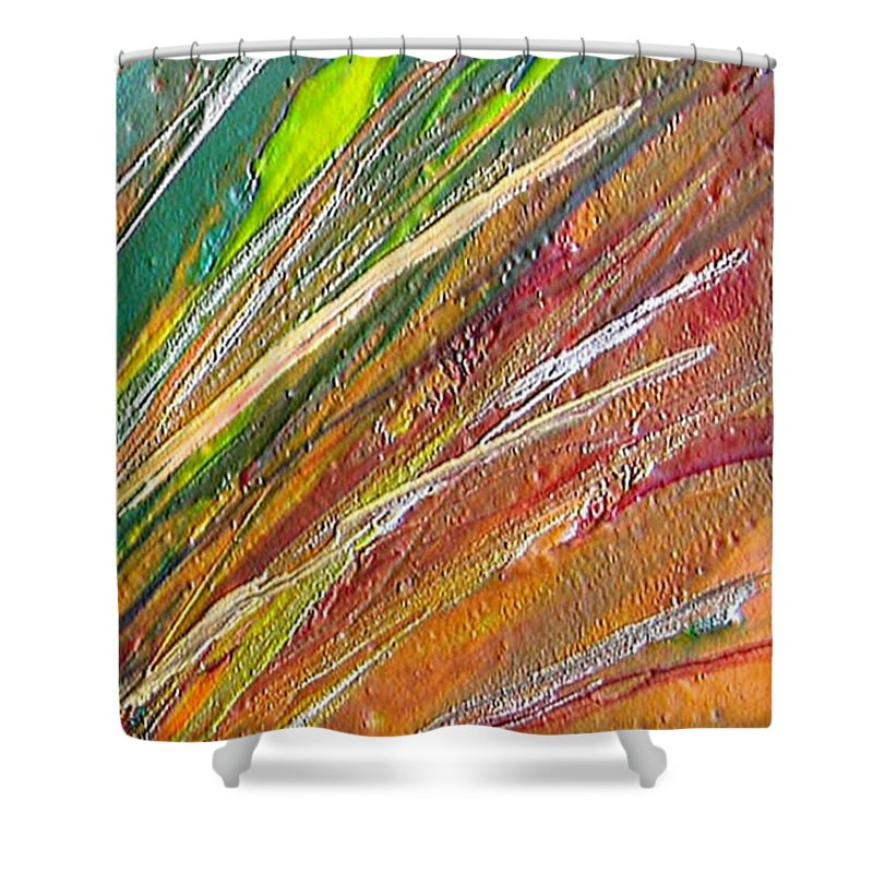 Joy Shower Curtain featuring the painting Joy by Dragica Micki Fortuna