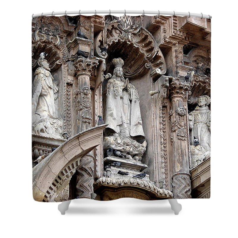 Lima Shower Curtain featuring the photograph Lima Peru Church II by Brett Winn