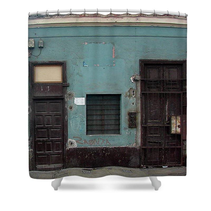Lima Shower Curtain featuring the photograph Lima Peru Wall by Brett Winn