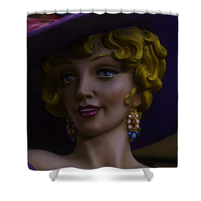 Mardi Gras Shower Curtain Featuring The Photograph Woman By Garry Gay