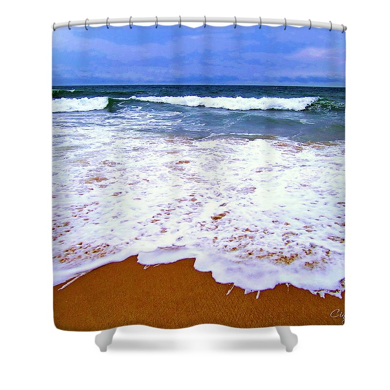 Beach Shower Curtain featuring the photograph Montauk 1 by Cindy Greenstein