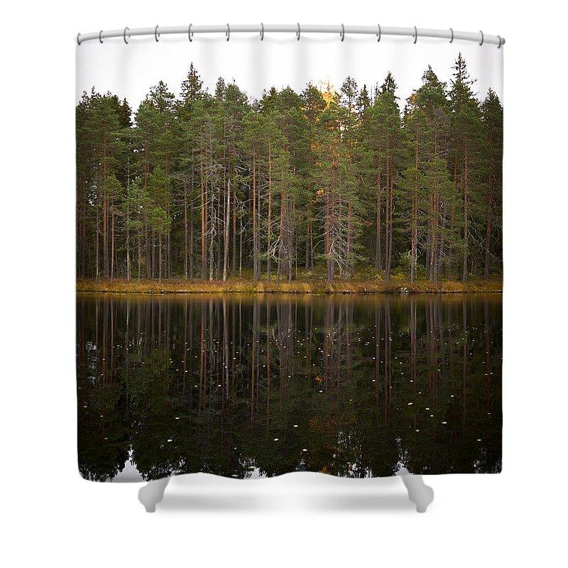 Lehtokukka Shower Curtain featuring the photograph Pitkajarvi 2 by Jouko Lehto