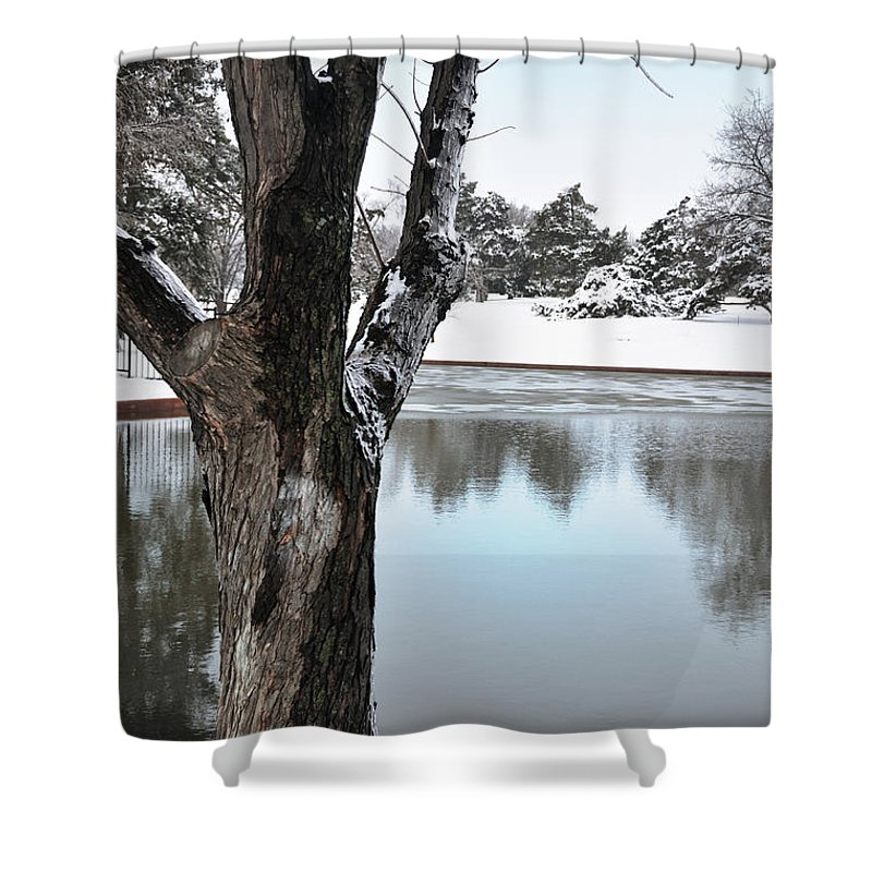 Landscape Shower Curtain featuring the photograph The Sentinal by Betty LaRue