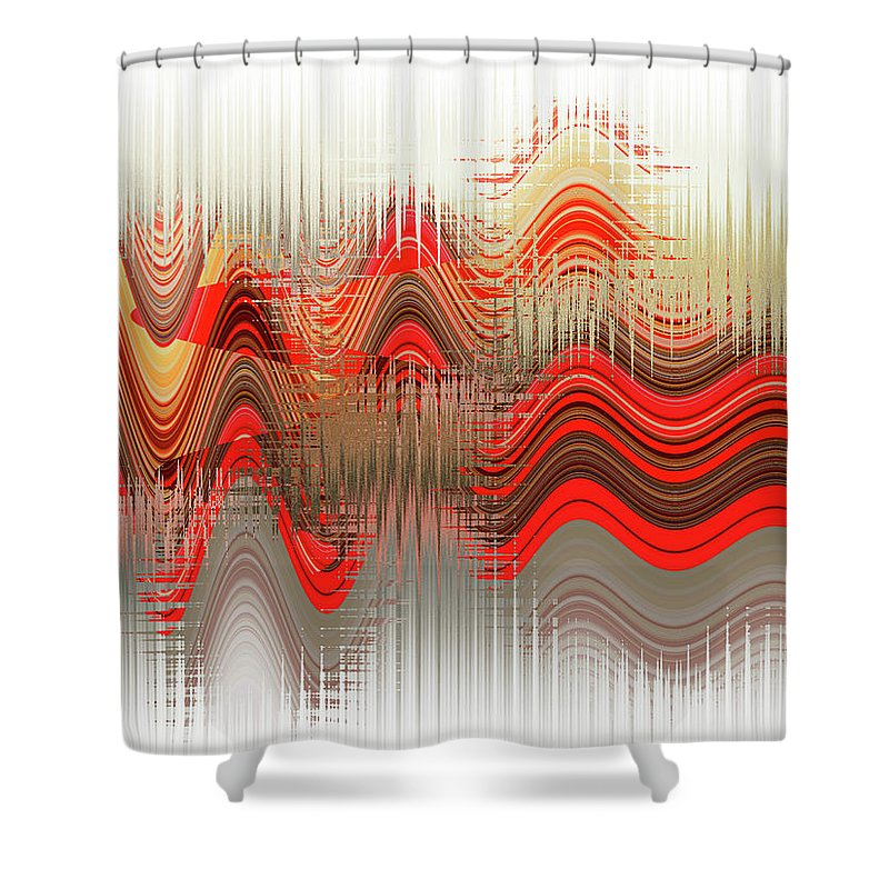 Abstract Shower Curtain featuring the digital art 00017 by Luciano Ricardo Lindner