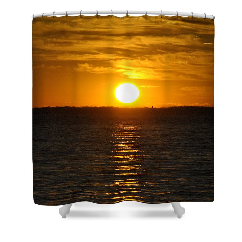 Buffalo Shower Curtain featuring the photograph 014 Sunset 16mar16 by Michael Frank Jr