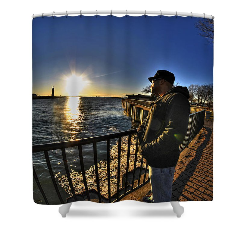Buffalo Shower Curtain featuring the photograph 02 Me Sunset 16mar16 by Michael Frank Jr
