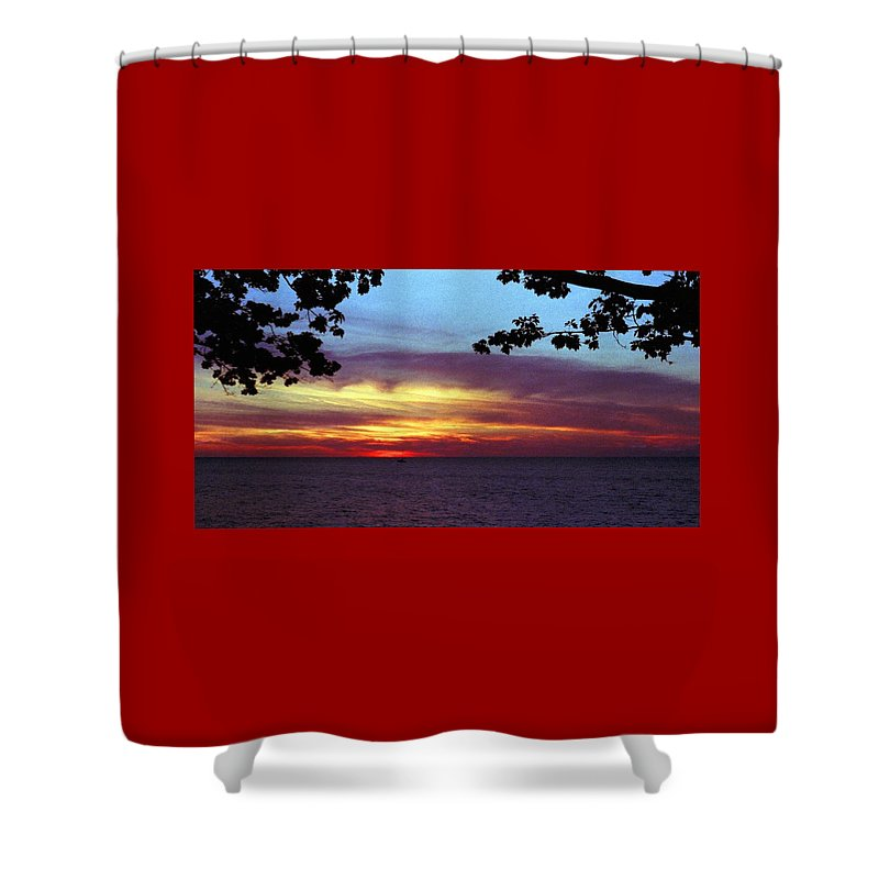 Sunset Shower Curtain featuring the photograph 070506-68 by Mike Davis
