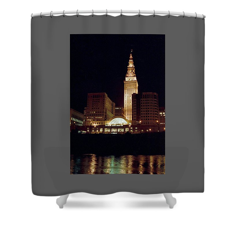 Cleveland Shower Curtain featuring the photograph 070506-73 by Mike Davis