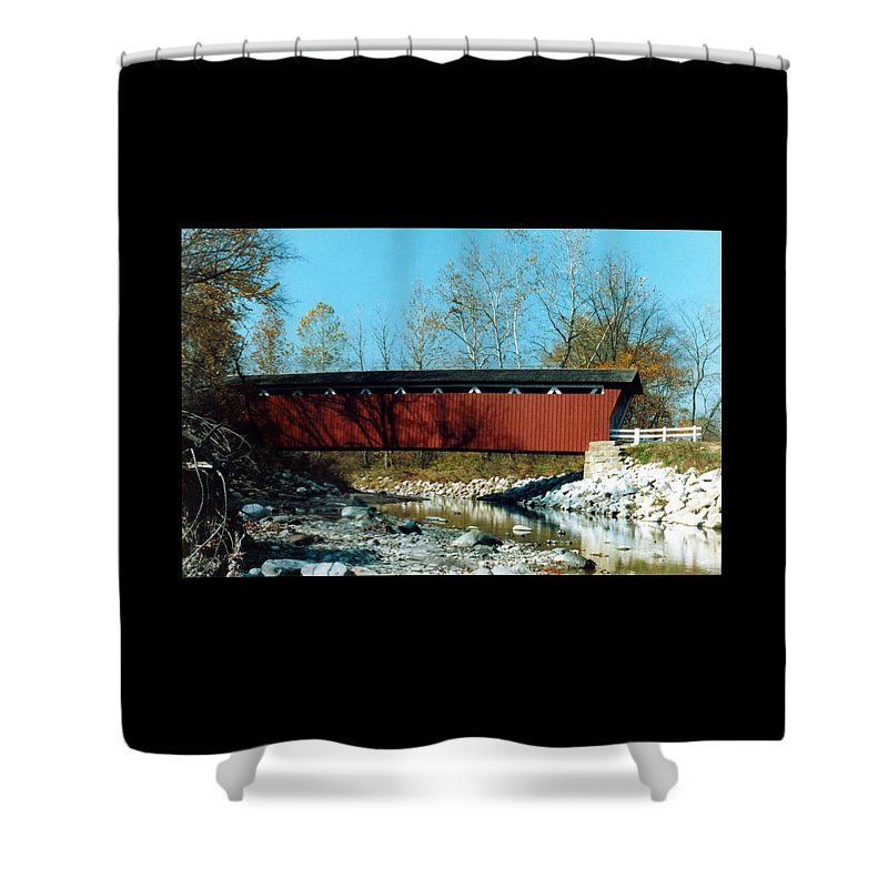 Bridge Shower Curtain featuring the photograph 072106-31 by Mike Davis
